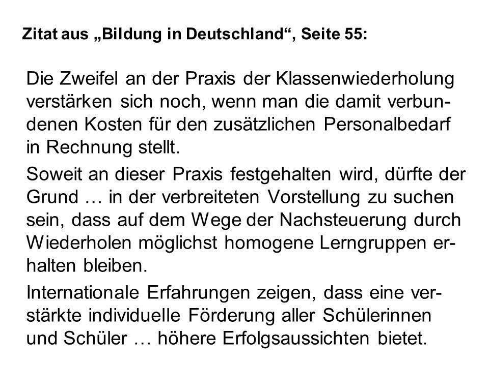 """Zitat aus """"Bildung in Deutschland , Seite 55:"""