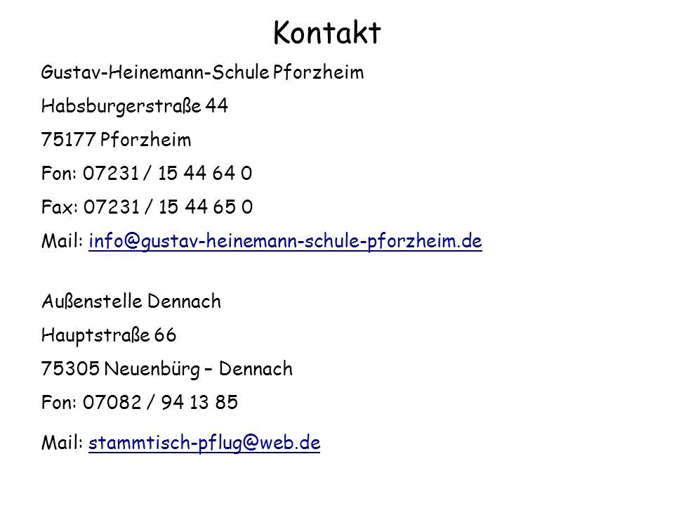 Kontakt Gustav-Heinemann-Schule Pforzheim Habsburgerstraße 44