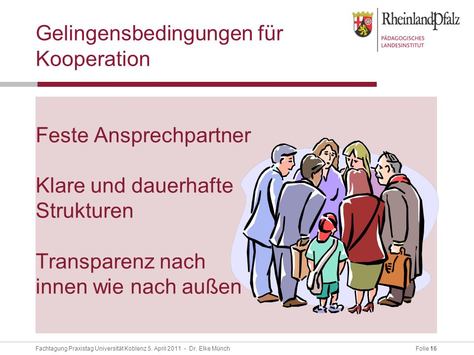 Gelingensbedingungen für Kooperation