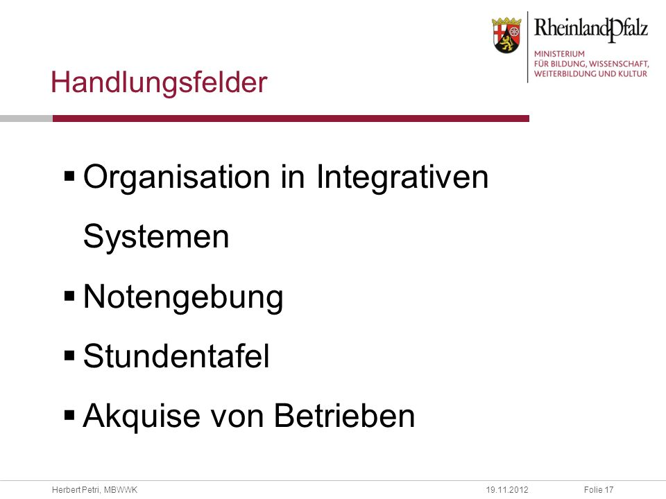Organisation in Integrativen Systemen