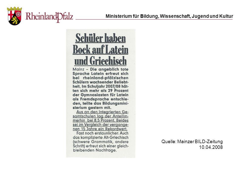 Quelle: Mainzer BILD-Zeitung 10.04.2008