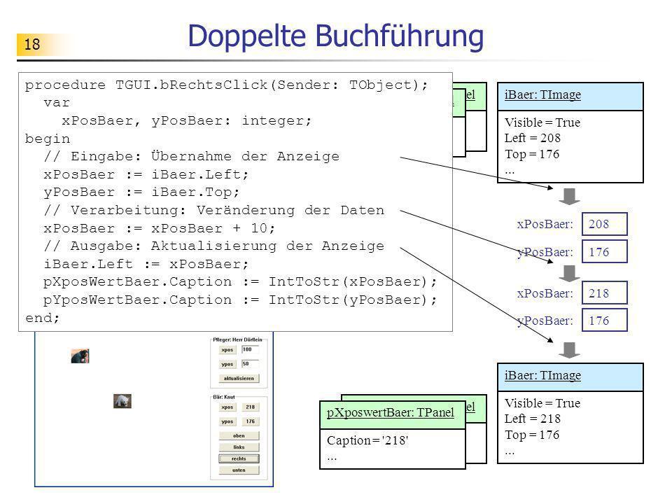 Doppelte Buchführung procedure TGUI.bRechtsClick(Sender: TObject); var