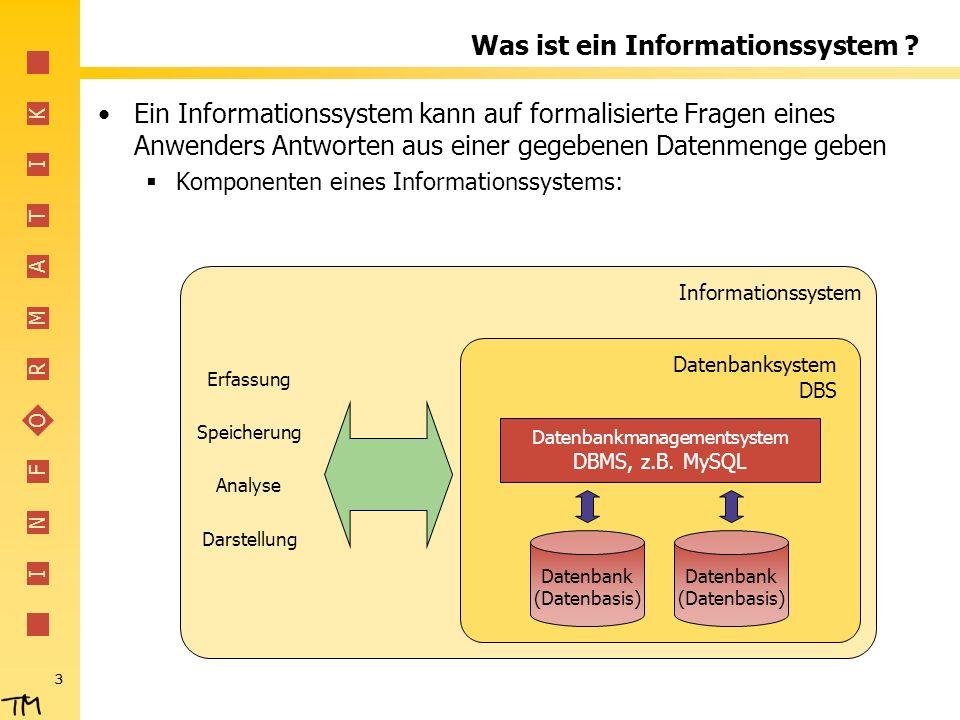 Was ist ein Informationssystem