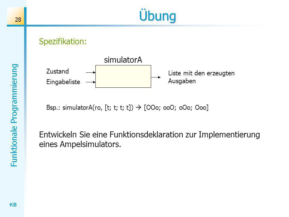 Übung Spezifikation: simulatorA