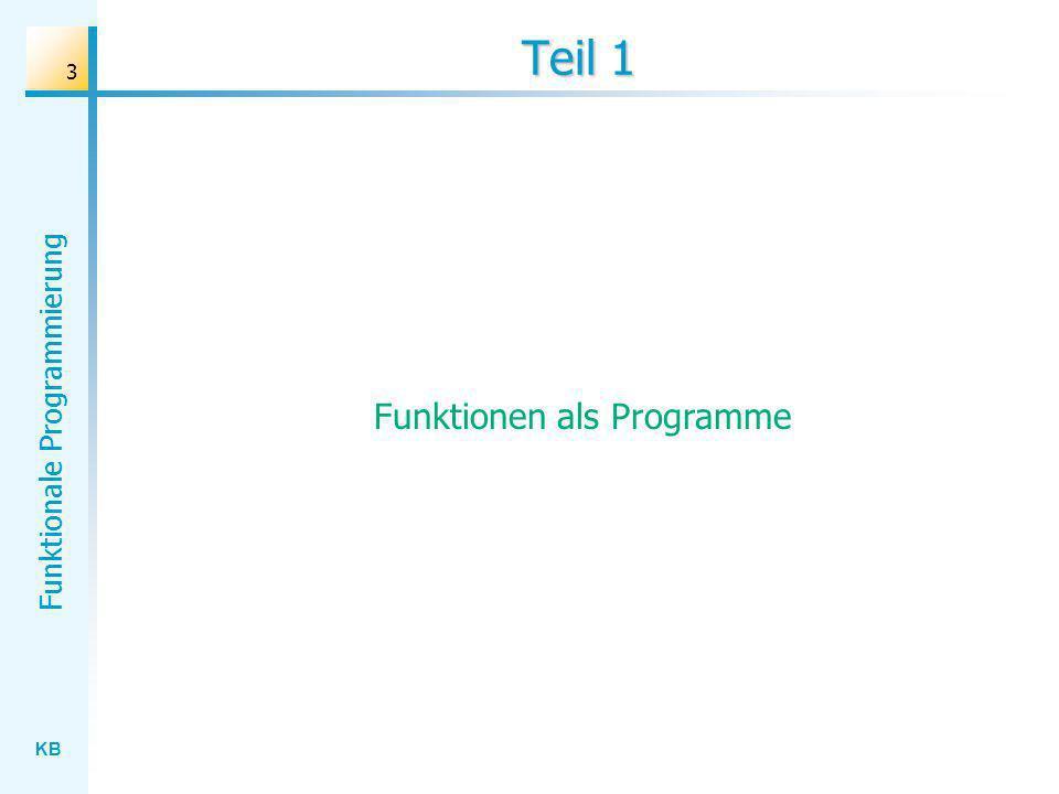 Funktionen als Programme