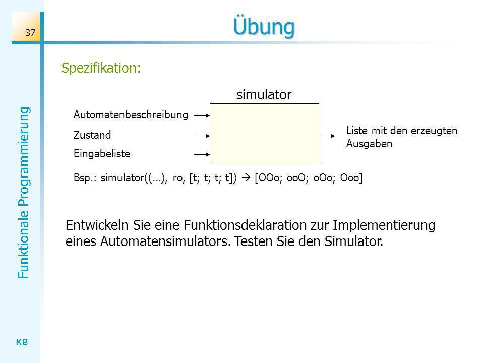 Übung Spezifikation: simulator