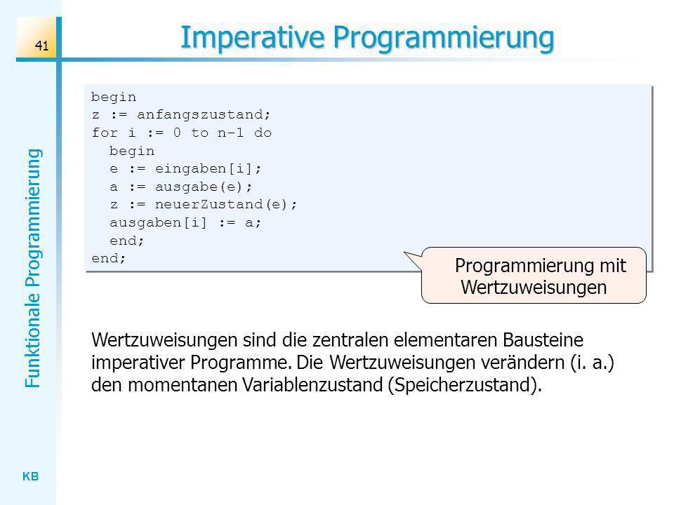 Imperative Programmierung