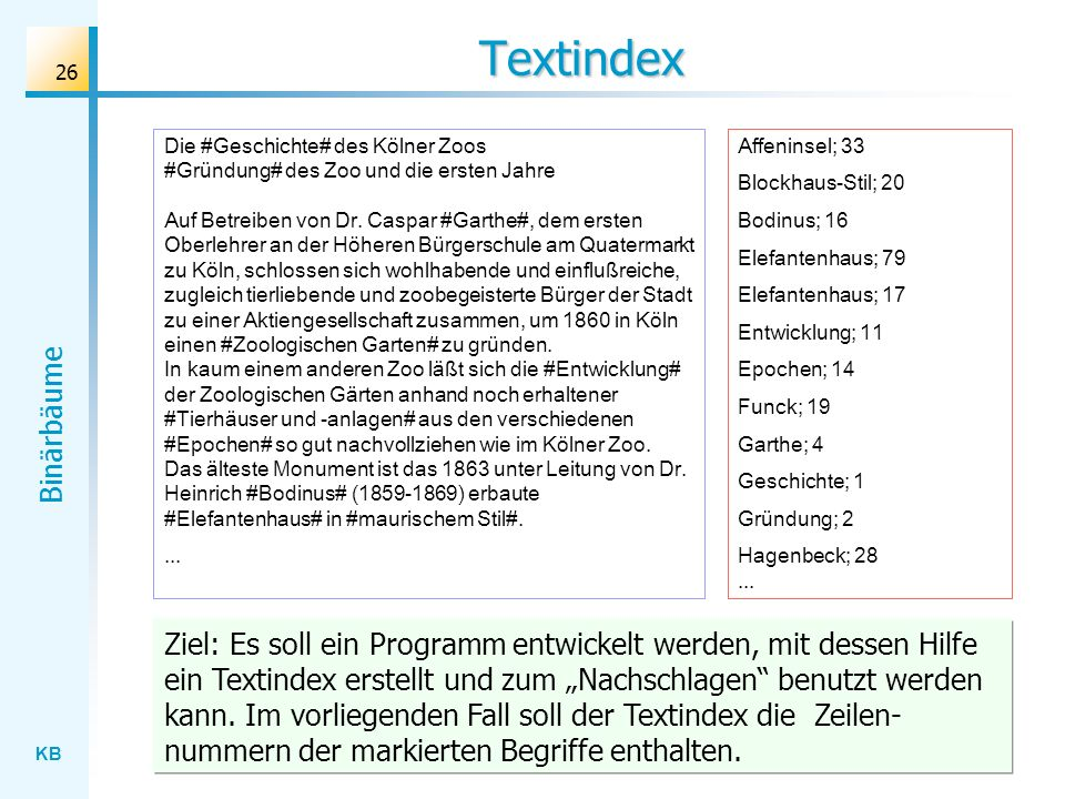 Textindex