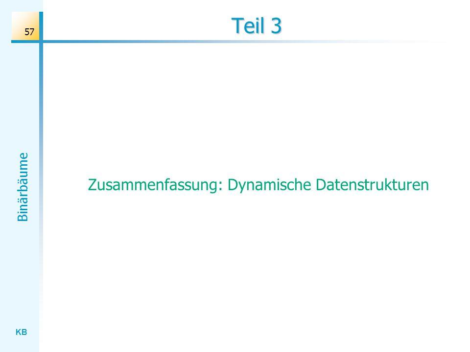Zusammenfassung: Dynamische Datenstrukturen