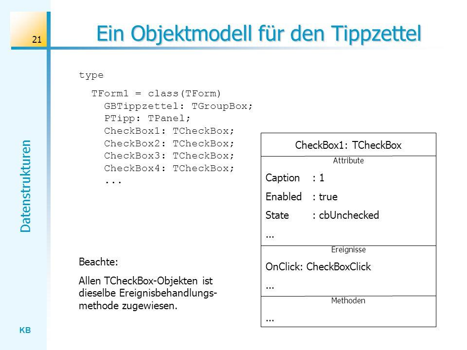 Ein Objektmodell für den Tippzettel