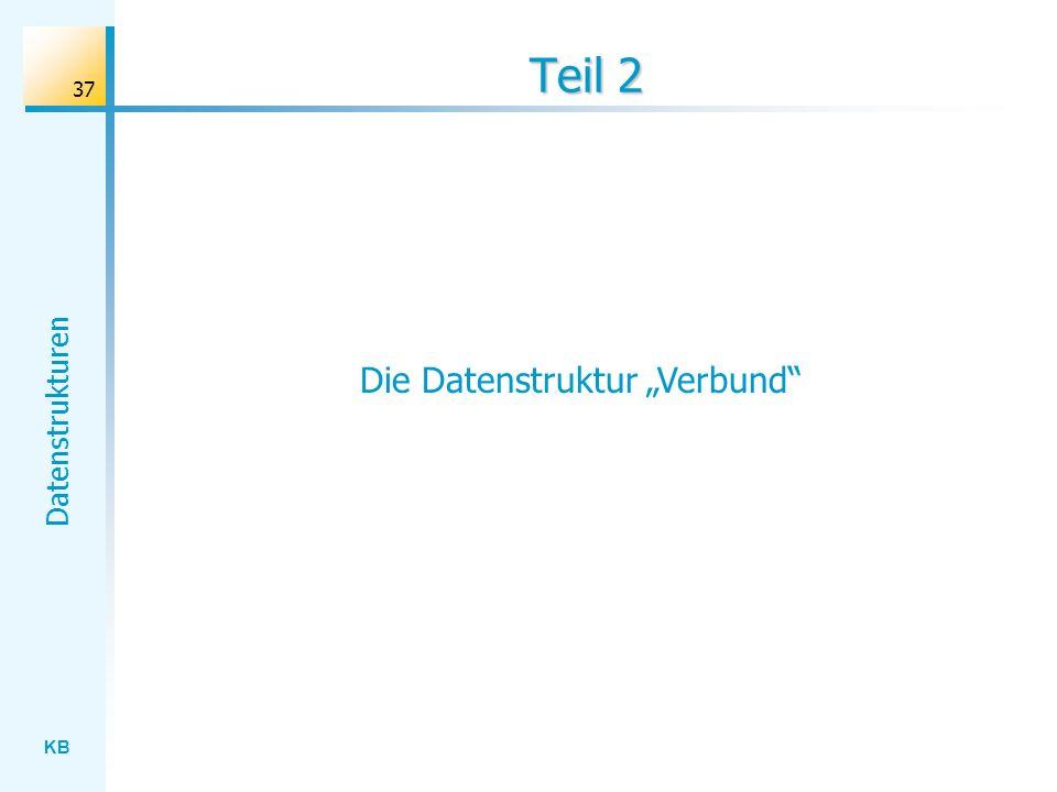 """Die Datenstruktur """"Verbund"""