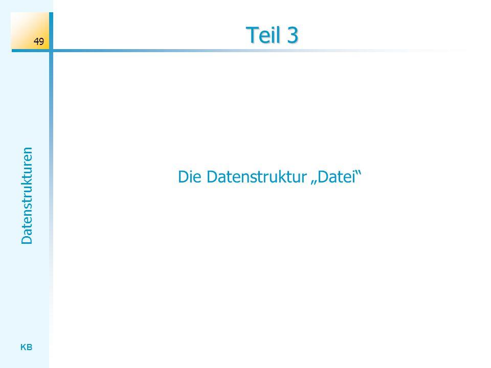 """Die Datenstruktur """"Datei"""