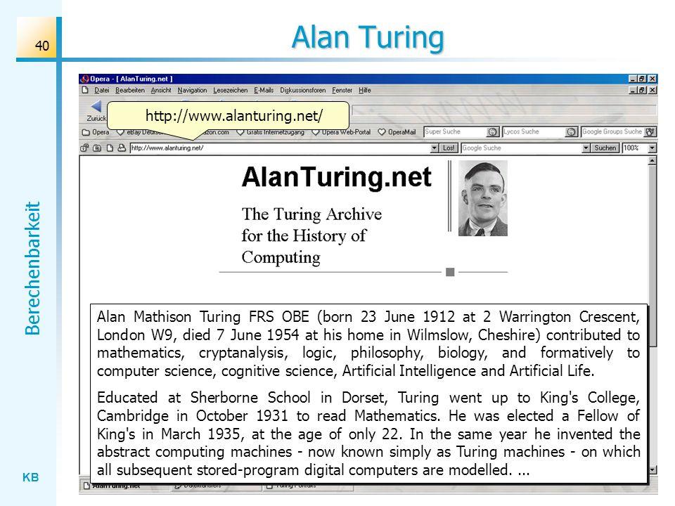 Alan Turing http://www.alanturing.net/