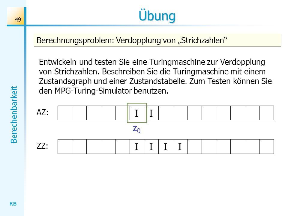 """Übung Berechnungsproblem: Verdopplung von """"Strichzahlen"""
