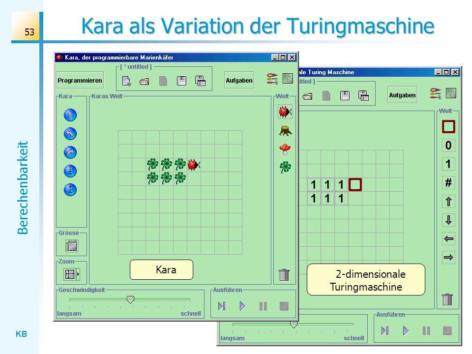 Kara als Variation der Turingmaschine