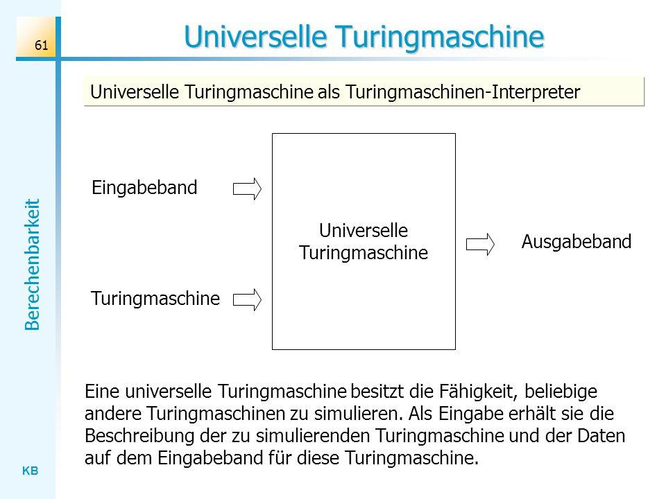 Universelle Turingmaschine