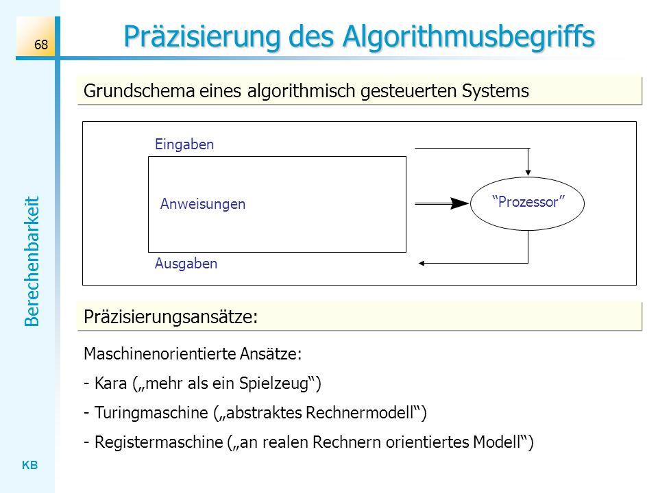 Präzisierung des Algorithmusbegriffs