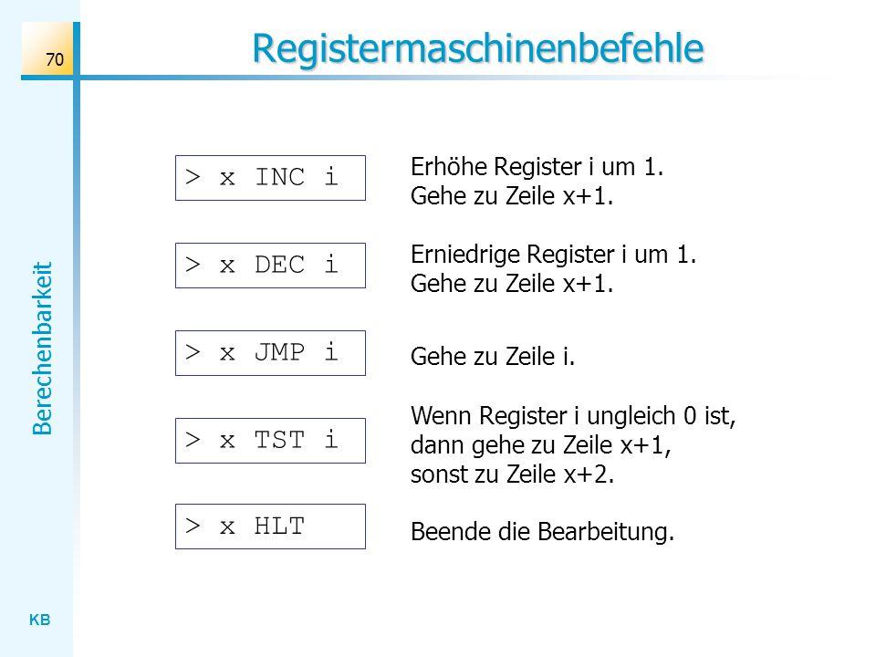 Registermaschinenbefehle