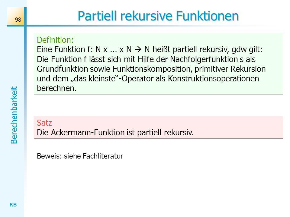 Partiell rekursive Funktionen