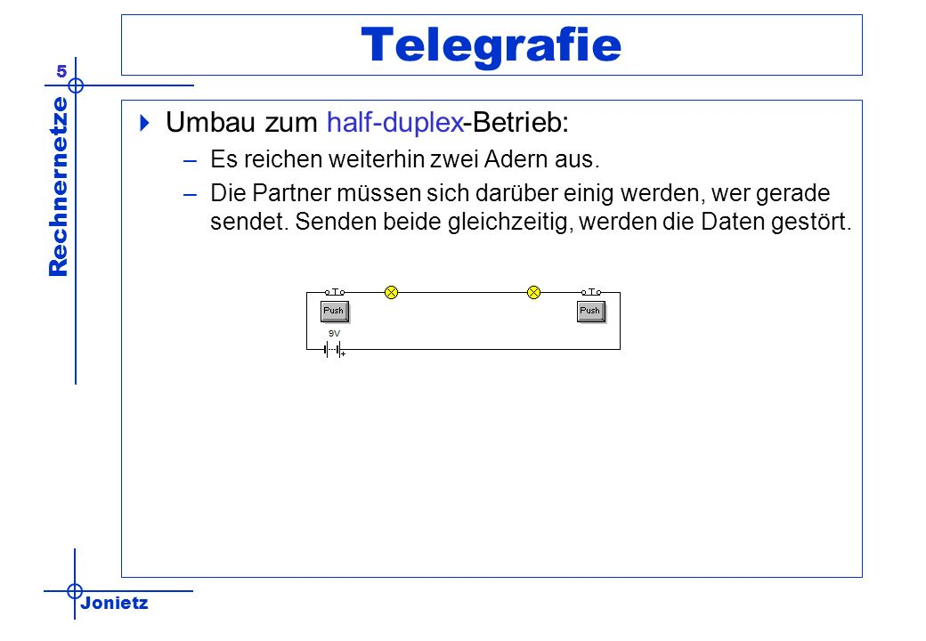 Telegrafie Umbau zum half-duplex-Betrieb: