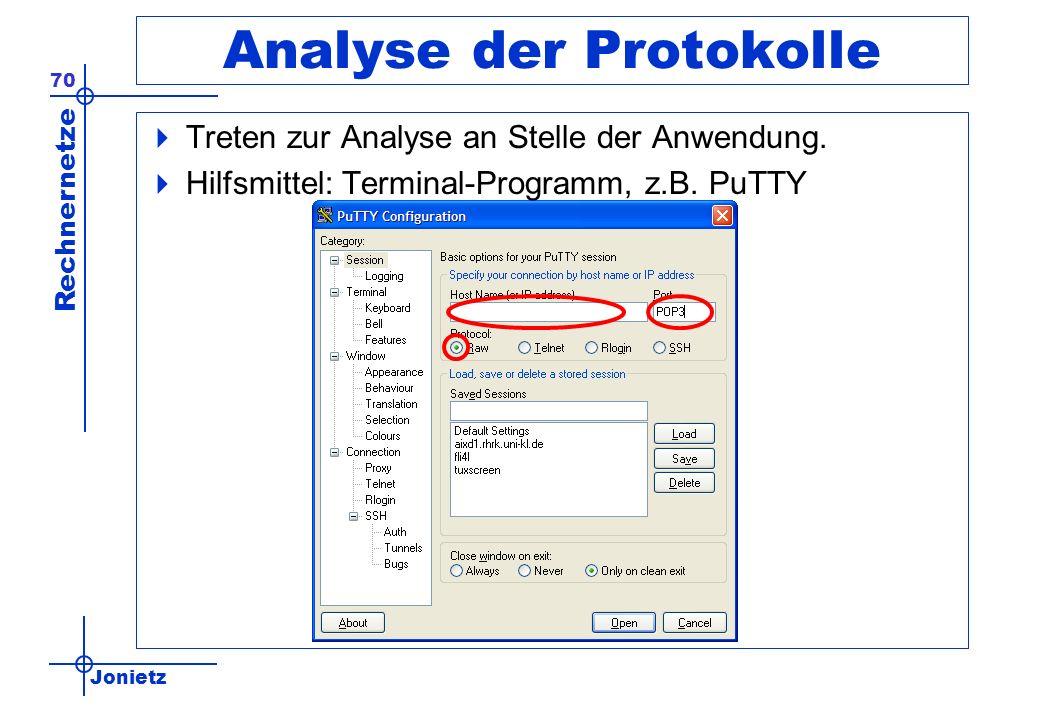 Analyse der Protokolle