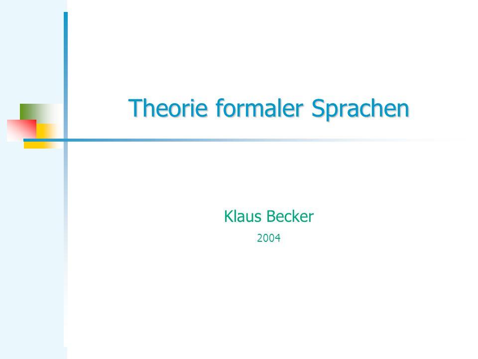 Theorie formaler Sprachen