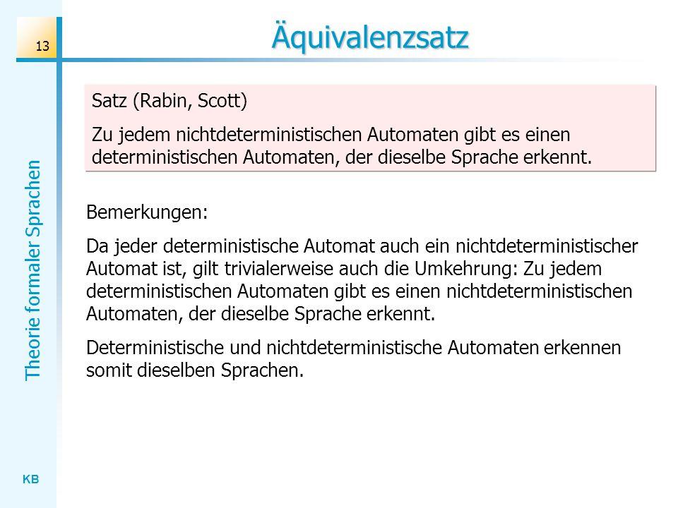 Äquivalenzsatz Satz (Rabin, Scott)