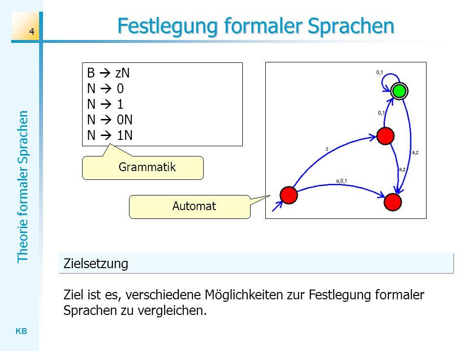 Festlegung formaler Sprachen