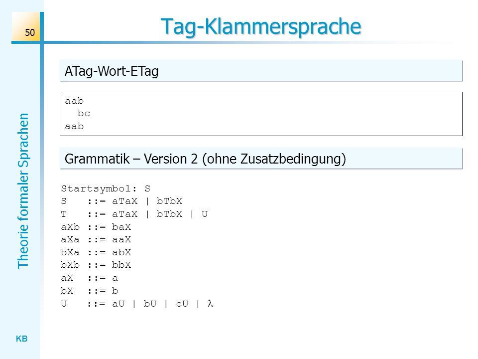Tag-Klammersprache ATag-Wort-ETag