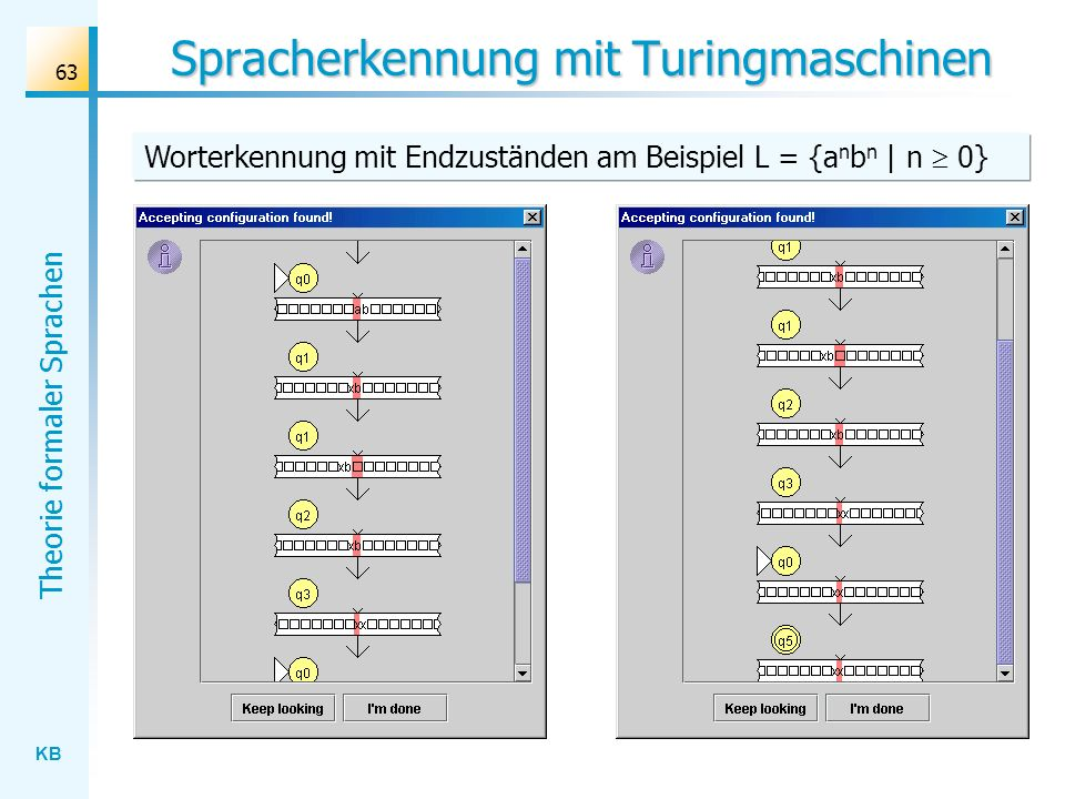 Spracherkennung mit Turingmaschinen