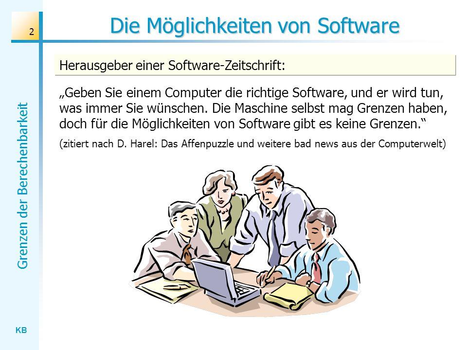 Die Möglichkeiten von Software