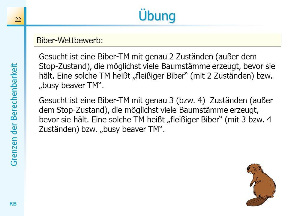 Übung Biber-Wettbewerb: