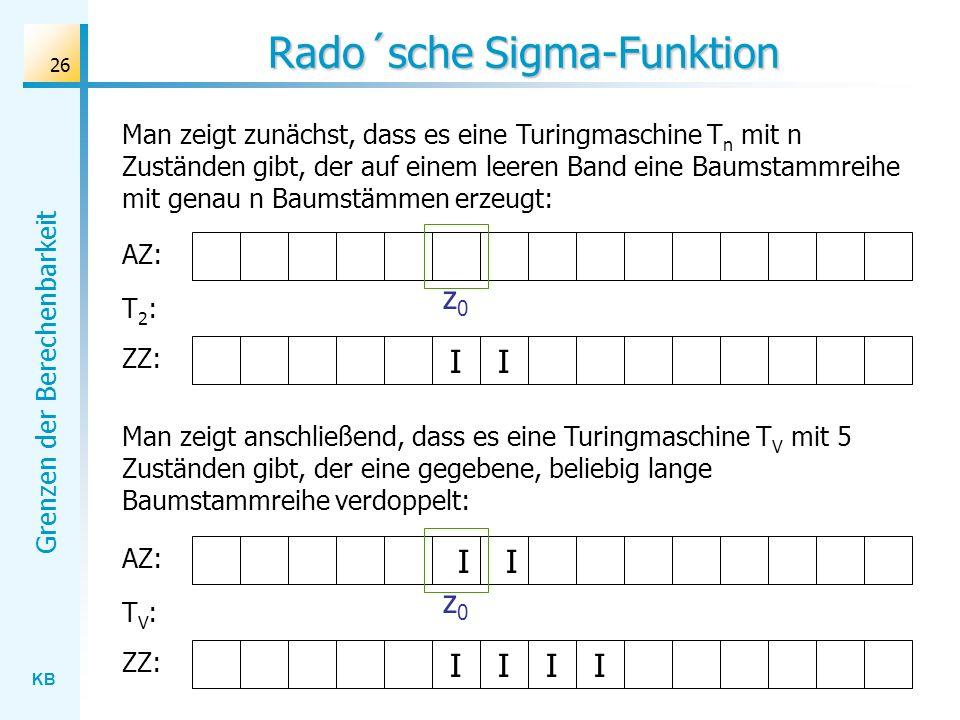 Rado´sche Sigma-Funktion