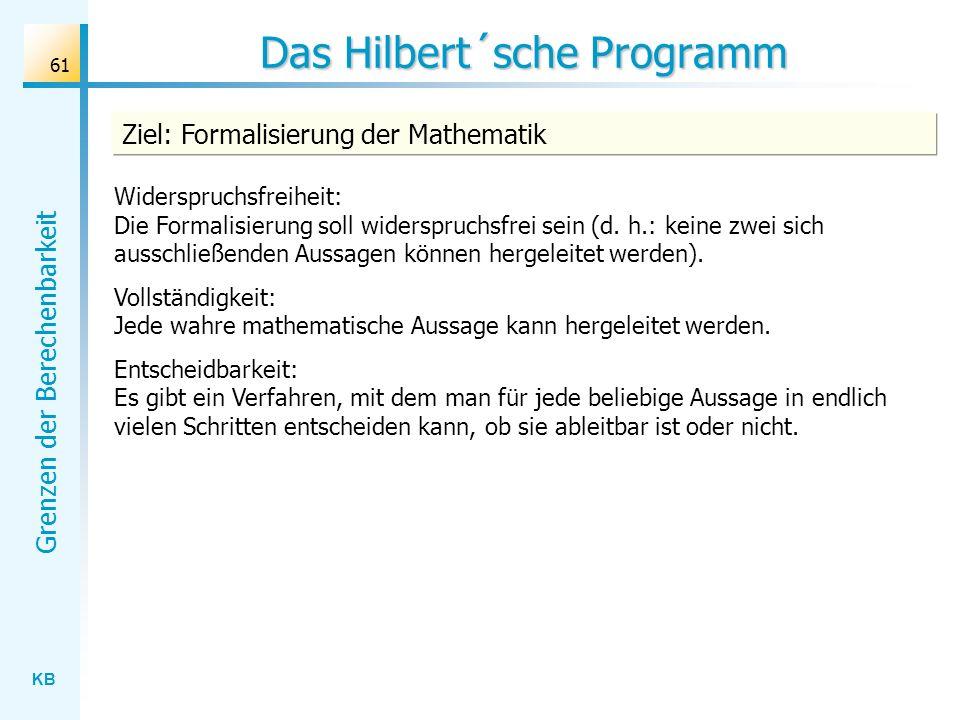 Das Hilbert´sche Programm