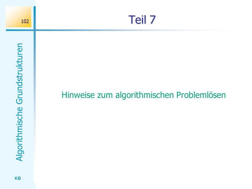Hinweise zum algorithmischen Problemlösen