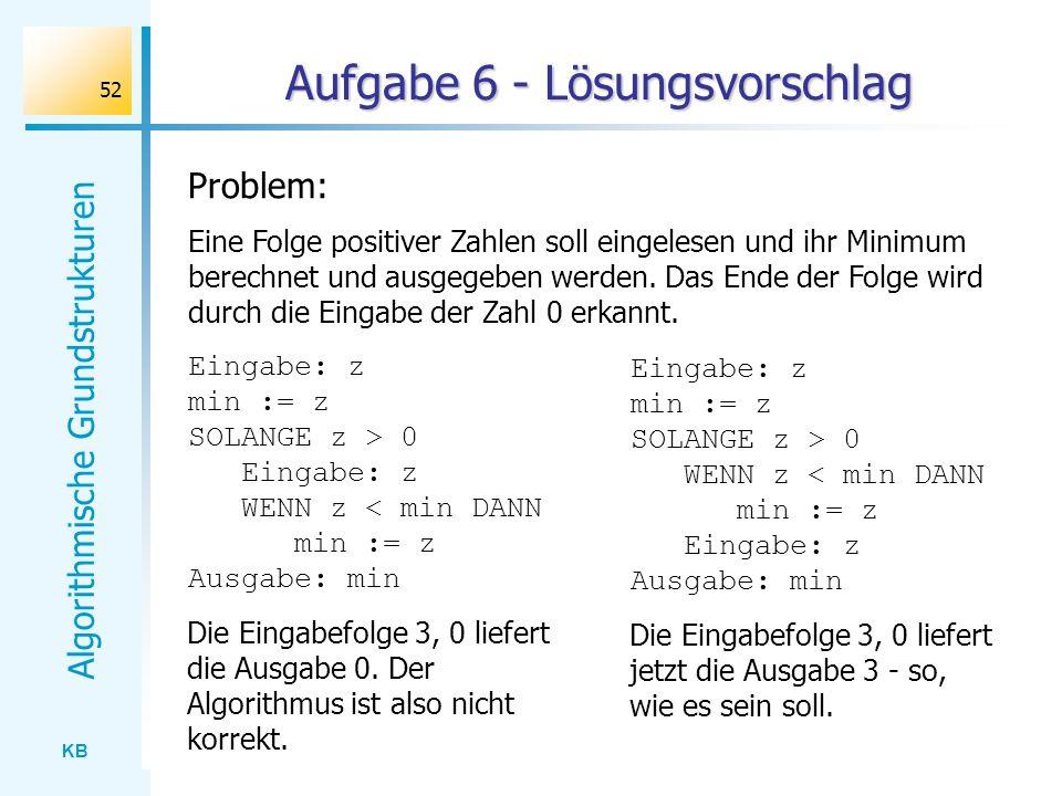 Aufgabe 6 - Lösungsvorschlag