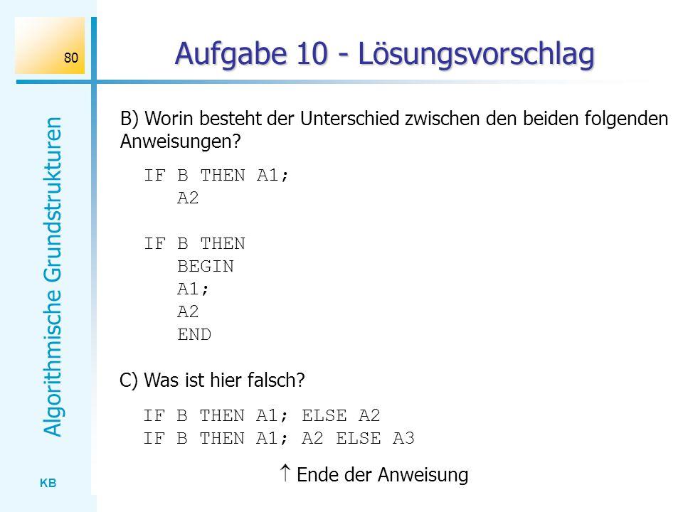 Aufgabe 10 - Lösungsvorschlag