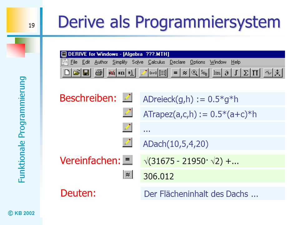 Derive als Programmiersystem