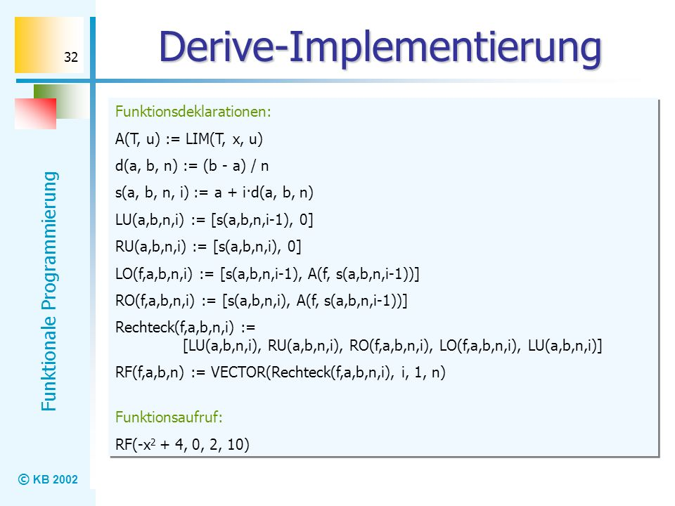 Derive-Implementierung