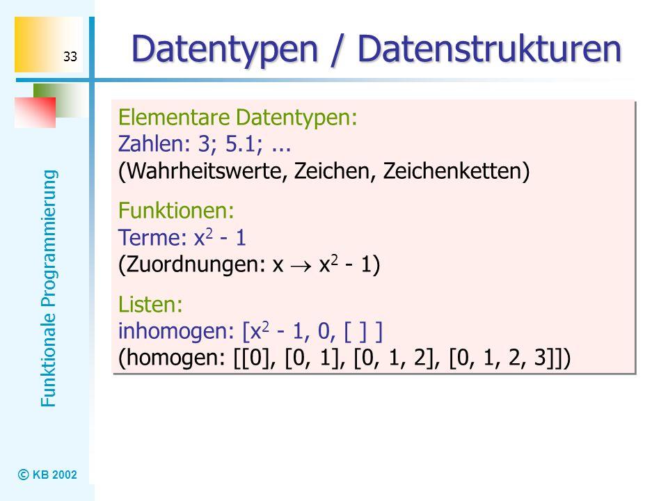 Datentypen / Datenstrukturen