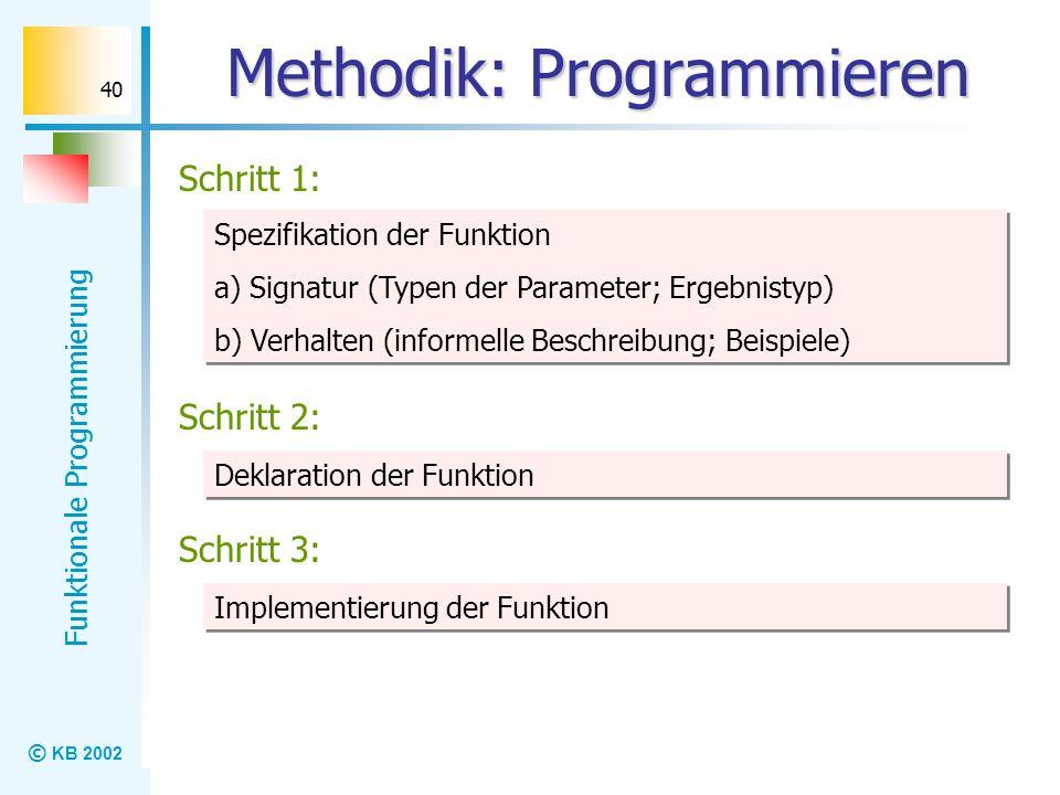 Methodik: Programmieren
