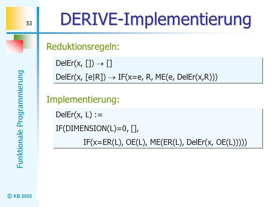 DERIVE-Implementierung