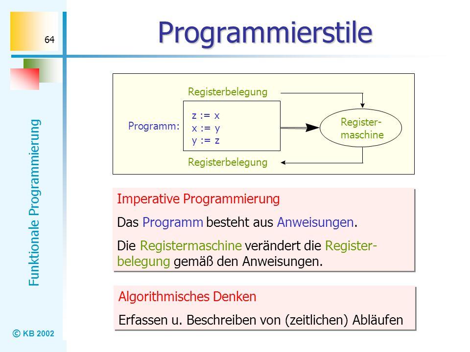 Programmierstile Imperative Programmierung