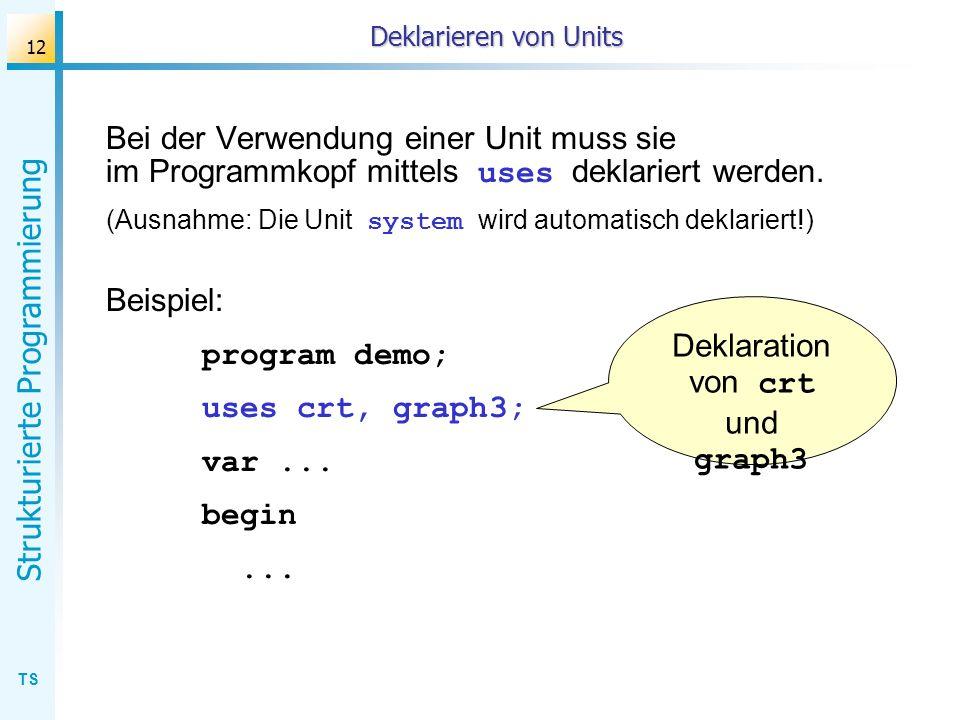 Deklaration von crt und graph3