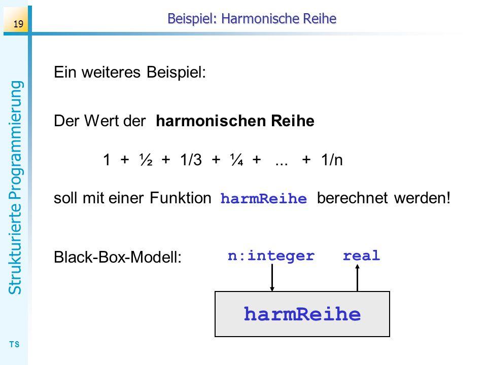 Beispiel: Harmonische Reihe