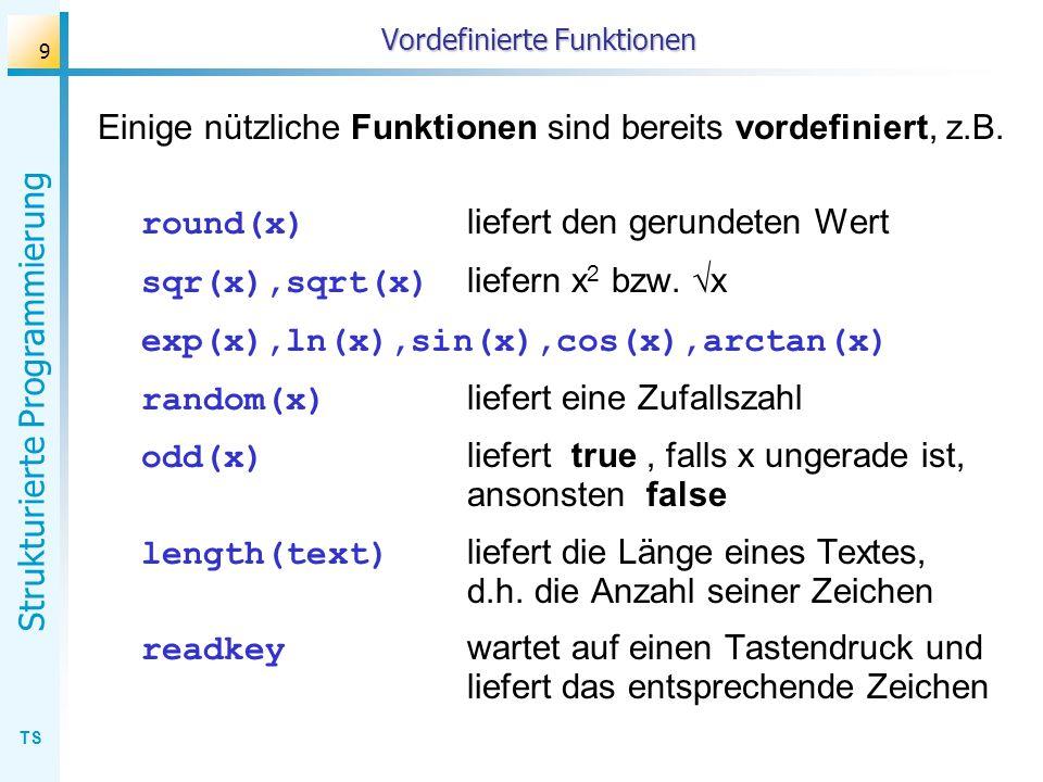 Vordefinierte Funktionen