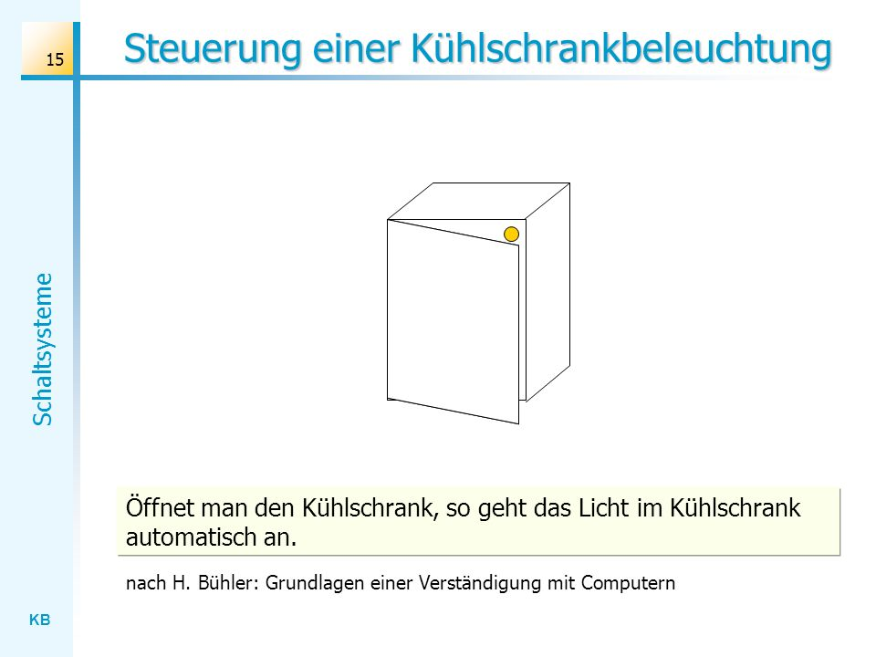 Steuerung einer Kühlschrankbeleuchtung