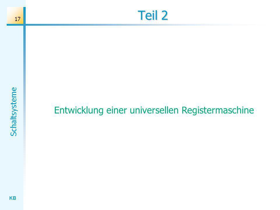 Entwicklung einer universellen Registermaschine