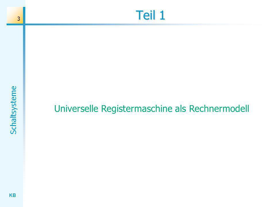 Universelle Registermaschine als Rechnermodell