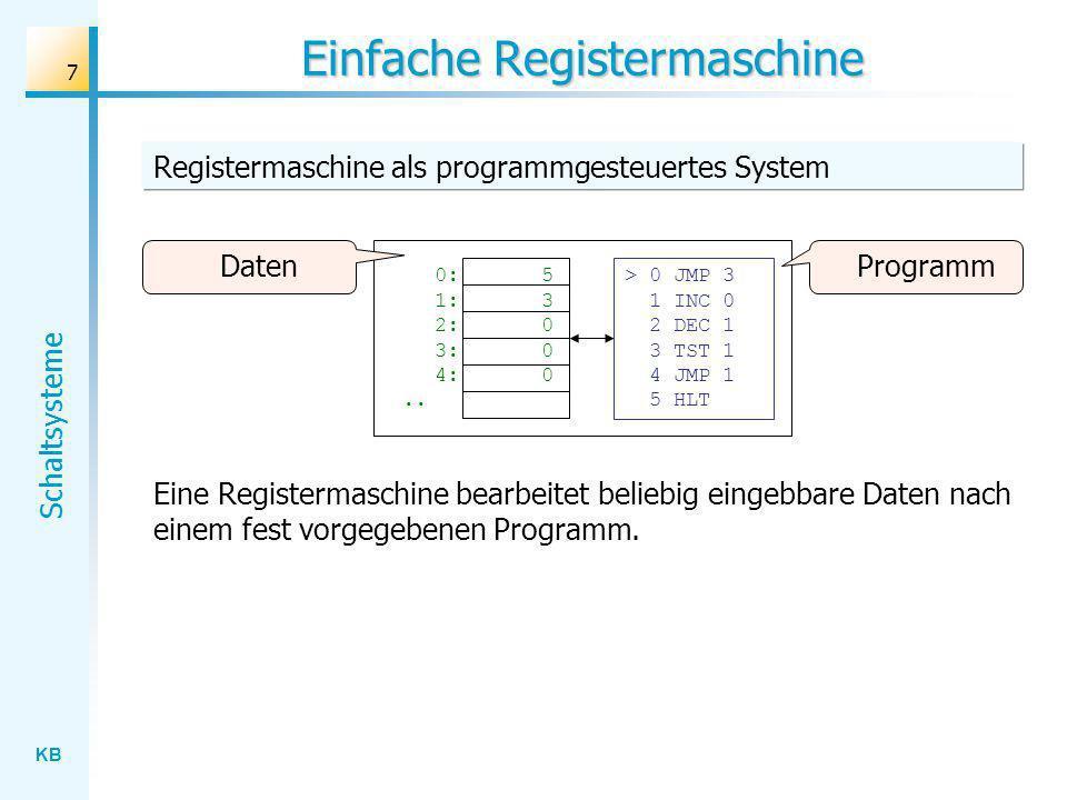 Einfache Registermaschine